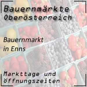 Bauernmarkt Enns mit den Öffnungszeiten