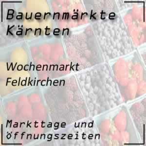 Wochenmarkt Feldkirchen mit den Öffnungszeiten