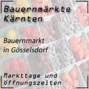 Bauernmarkt Gösselsdorf mit den Öffnungszeiten