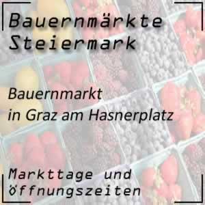 Bauernmarkt in Graz am Hasnerplatz