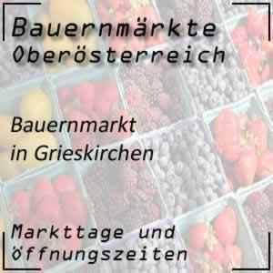 Bauernmarkt Grieskirchen mit den Öffnungszeiten