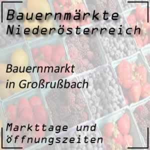 Bauernmarkt Großrußbach mit den Öffnungszeiten