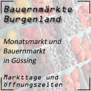 Monatsmarkt und Bauernmarkt Güssing