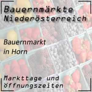 Bauernmarkt Horn mit den Öffnungszeiten