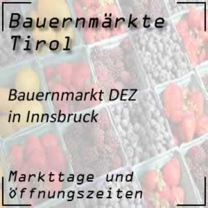 Bauernmarkt Innsbruck DEZ mit Markttage