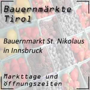 Bauernmarkt Innsbruck St. Nikolaus / Brunnenplatzl