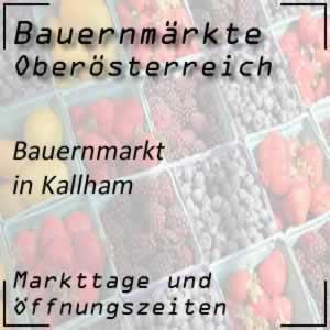 Bauernmarkt Kallham mit den Öffnungszeiten