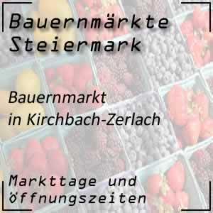 Bauernmarkt Kirchbach-Zerlach mit den Markttagen