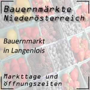 Bauernmarkt Langenlois mit den Öffnungszeiten