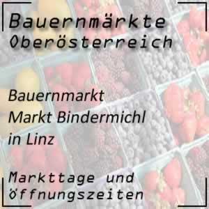 Bauernmarkt Bindermichl Linz mit den Markttagen