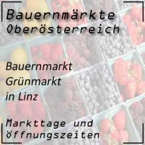 Grünmarkt Linz mit den Öffnungszeiten