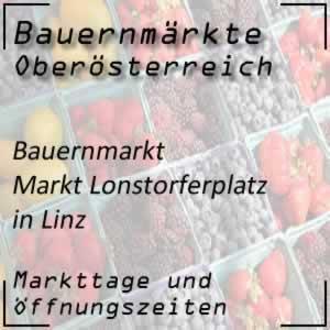 Bauernmarkt Lonstorferplatz Linz mit den Öffnungszeiten