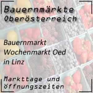 Bauernmarkt Oed Linz mit den Öffnungszeiten