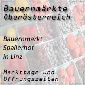 Bauernmarkt Spallerhof Linz mit den Öffnungszeiten