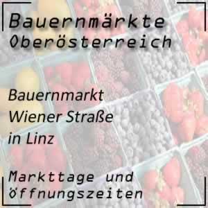 Bauernmarkt Wiener Straße Linz mit den Öffnungszeiten