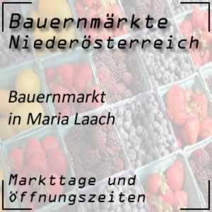 Bauernmarkt Maria Laach mit den Öffnungszeiten