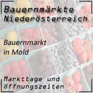 Bauernmarkt Mold mit den Öffnungszeiten