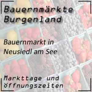 Bauernmarkt Neusiedl am See mit den Öffnungszeiten