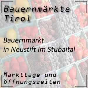 Bauernmarkt Neustift im Stubaital mit Markttage