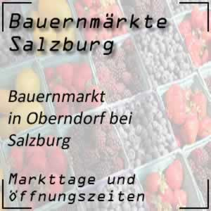 Wochenmarkt Oberndorf bei Salzburg mit Markttage
