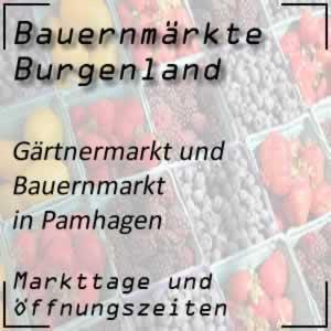 Bauernmarkt Pamhagen mit den Öffnungszeiten
