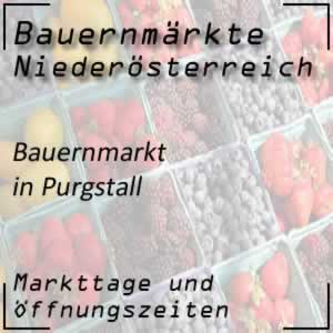Bauernmarkt Purgstall mit den Öffnungszeiten