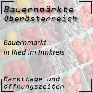 Bauernmarkt Ried im Innkreis mit den Öffnungszeiten