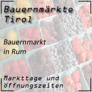 Bauernmarkt Rum mit den Öffnungszeiten