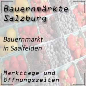 Bauernmarkt Saalfelden mit den Öffnungszeiten