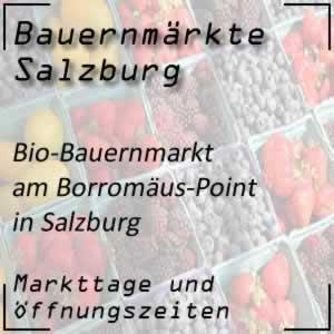 Bio-Bauernmarkt in Salzburg am Borromäus-Point