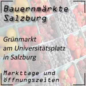 Grünmarkt Salzburg Universitätsplatz