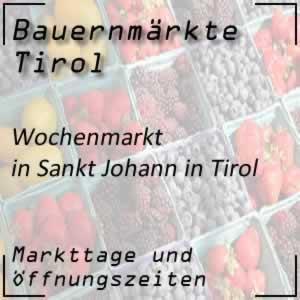 Wochenmarkt St. Johann in Tirol