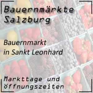 Bauernmarkt Sankt Leonhard mit den Öffnungszeiten