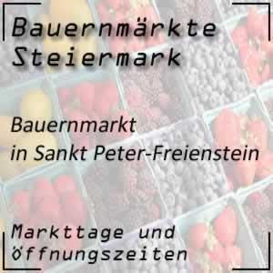 Bauernmarkt in Sankt Peter-Freienstein