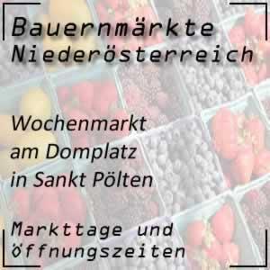 Wochenmarkt St. Pölten Domplatz