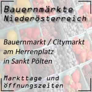 Bauernmarkt / Citymarkt am Herrenplatz in St. Pölten