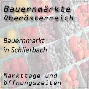 Bauernmarkt Schlierbach mit den Öffnungszeiten