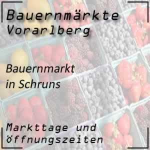 Bauernmarkt Schruns mit den Öffnungszeiten