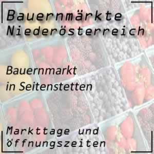 Bauernmarkt Seitenstetten mit den Öffnungszeiten