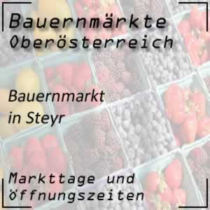 Bauernmarkt Steyr mit den Öffnungszeiten