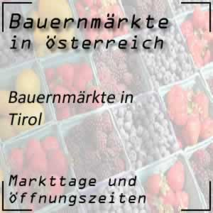 Bauernmärkte in Tirol