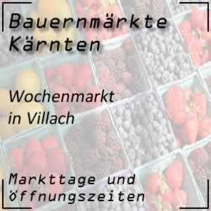 Wochenmarkt Villach Burgplatz mit den Öffnungszeiten