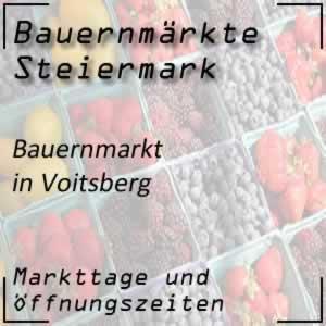 Bauernmarkt Voitsberg mit den Öffnungszeiten