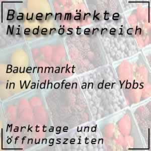 Bauernmarkt Waidhofen an der Ybbs mit den Markttagen