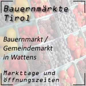 Gemeindemarkt Wattens mit den Markttagen