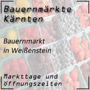 Bauernmarkt Weißenstein mit den Öffnungszeiten