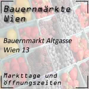 Bauernmarkt Altgasse mit den Öffnungszeiten