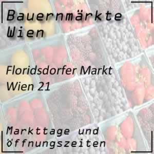Bauernmarkt Floridsdorfer Markt mit den Öffnungszeiten