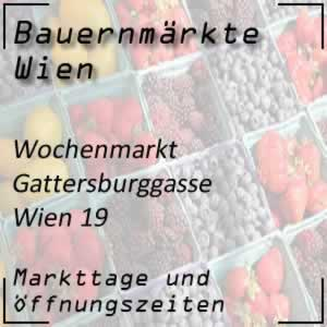 Wochenmarkt Gatterburggasse mit den Öffnungszeiten