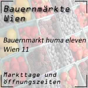 Bauernmarkt huma eleven mit den Öffnungszeiten